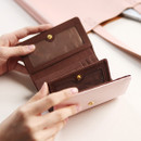 Rim pattern trifold wallet