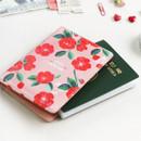 Camellia - Rim pattern passport cover case