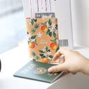 Mandarin - Rim pattern passport cover case