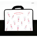 White - Brunch brother zip around file pouch bag
