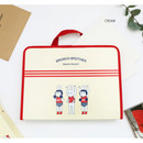 Cream - Brunch brother zip around file pouch bag