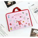 Pink - Brunch brother zip around file pouch bag