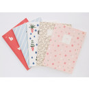 Cute illustration B5 size small lined notebook