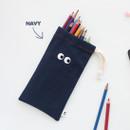 Navy - Som Som cotton drawstring pouch