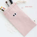 Indi pink - Som Som cotton drawstring pouch