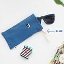 Blue - Som Som cotton drawstring pouch