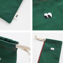 Detail of Som Som cotton drawstring pouch