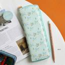 Mint - Willow pattern classic slim pencil case