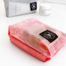 Window blows small mesh zipper pouch