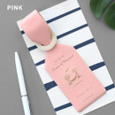 Pink - Piece of moment travel luggage name tag