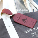 Burgundy - Piece of moment travel luggage name tag