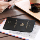 Black - Piece of moment RFID blocking travel passport case
