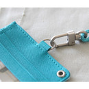 Detail of Dorothy alice flat card holder case with neck strap