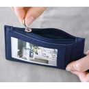 Dorothy alice zip flat card holder case with neck strap