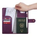 Travel RFID blocking long passport case