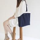 Navy - Around'D line shoulder bag tote