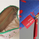 Detail of Rim pattern cotton zipper small pouch