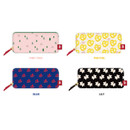 Rim pattern cotton pen pencil case