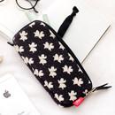 Lily - Rim pattern cotton pen pencil case