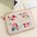 Peach - Rim pattern 13 inches laptop pouch case