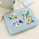 Mint - Rim pattern 13 inches laptop pouch case