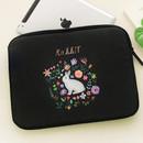 Rabbit - Rim pattern 13 inches laptop pouch case