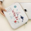 Ivory - Rim pattern iPad multi pouch