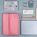 Milk pink - All in one organizer for laptop