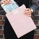 Pink - Agenda docdo zipper tote bag