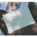 Baby mint - Something wish oxford medium zipper pouch
