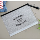 Size of Wind blows clear zip lock large pouch