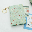 Mint 2 - Willow story pattern snap button card case
