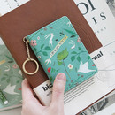 Mint - Willow story pattern snap button card case