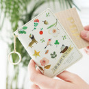 Yellow - Willow story pattern snap button card case