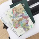 Pastel - World map passport cover case ver.2