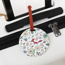 White - Willow story pattern travel luggage name tag