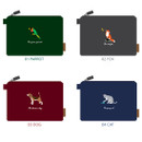Tailorbird impressive contrast animal large pouch