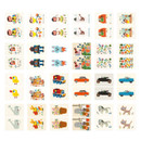 Composition of Village small label sticker set