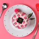 Peach - Pop art small tambourine round pouch