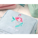 Detail of Tailorbird pastel frame square pouch