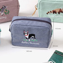 Size of Tailorbird pastel frame square pouch