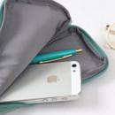 Detail of Tailorbird half zip around pastel slim multi pouch