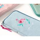 Tailorbird half zip around pastel slim multi pouch