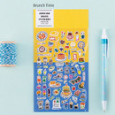 Brunch time - Colorful and unique deco sticker