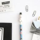 Moomin figure 0.5mm black ballpoint pen