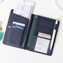 Navy - Ghost pop RFID blocking passport case
