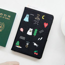 Black - Ghost pop RFID blocking passport case
