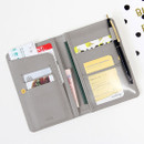 Gray - Ghost pop RFID blocking passport case