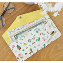 Yellow - Willow story pattern pocket passport wallet