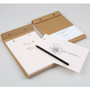 kraft snap A5 quadrille notepad